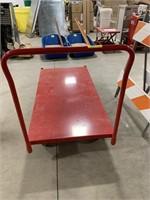 Metal rolling flat cart
