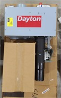 Dayton natural gas-fired infrared tube heater