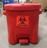 Plastic 10 gal Biohazard can