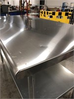 Industrial stainless steel table 5ft long 30in