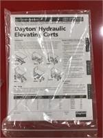 New Dayton Hydraulic elevating cart
