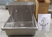 NOS Sani-Lav wall mount sink with faucet