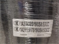 55 gal. Black Steel Open Head Transport Drum