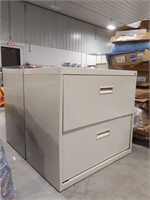 "Two drawer Metal legal filing cabinet 27.75"" tall"