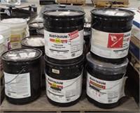 Large pallet of 5 gal Rust-Oleum paint various