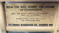 2 Vintage Wood Washboards Columbus Washboard