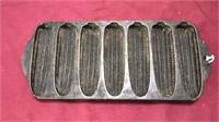 Antique Cast Iron Cornbread Mold & 2 pans