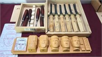 Collection of Wood Carving Tools and Guide