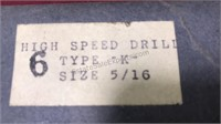 Vintage Type K 5/16 Metal Drill Bits In Original