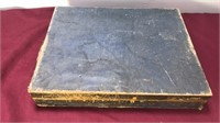 Vintage Velvet Lined Flatware Box With Various