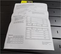 "Drawer, Large Flat File Cabinet, Black 53-3/4"" x"