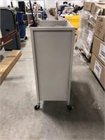 Metal file cart on wheels