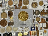 Gold Silver Coins Bullion Currency for sale at auction