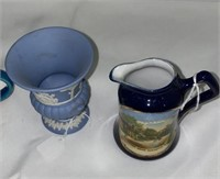 Tea Cups and Serving Dish and Pitcher