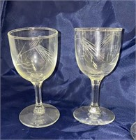 Crystal Wine Glasses and Tray