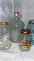 Glass Jars and Growler