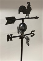 Cast Iron Rooster Weather Vane