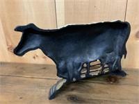 Heavy Cast Iron Cow Doorstop