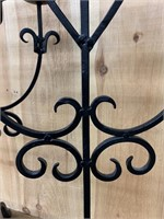 Gothic Pair Wrought Iron Candle Holders