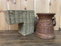 Old Stair Basket and Fruit Basket