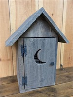 Pine Outhouse Bird House