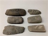 Grouping of Native Stone Axe Heads and Tools