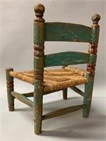 Old Quebec Folk Art Childs Chair