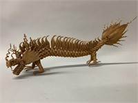 Unusual Dragon Husk Sculpture 17""