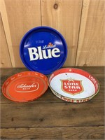 Lot of Three Beer Trays