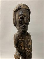 Large Wooden Carving of Man