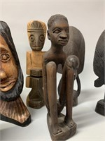Lot of Many Fine S American Wooden Carvings