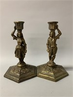 Pair of Fantastic Antique Candle Sticks