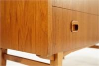 Danish Modern Teak Roll Top Desk