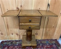 Unique Stand with Drop Leaves and Drawers
