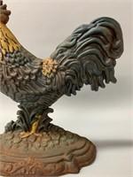 Heavy Cast Iron Rooster Door Stop