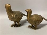 Pair of Solid Brass Pheasant DŽcor