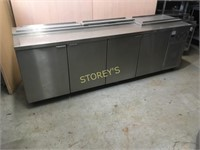 Inox-Fab S/S Refrigerted Prep Table on Wheels