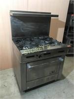 Gas 6 burner Range w/ Convection Oven