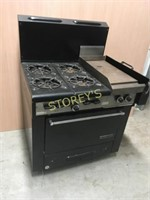 "Garland Gas 4 Burner Stove w/ 12"" Grill"