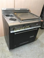 "Garland Electric 2 Burner Range w/ 24"" Griddle"