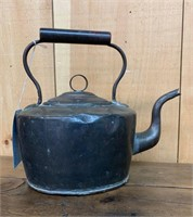 Early Copper Kettle with Lid