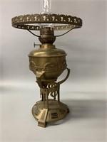 Antique Brass Oil Lamp Base