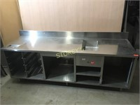 Heated S/S Back Service Cabinet - 98 x 30 x 34