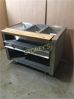 4' Ideal 3 Well Steam Table w/ Seperate Controls