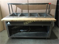 S/S 4 Well Steam Table - 60 x 30 x 36 - as is