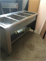 Wells 5' S/S 4 Well Steam Table