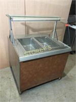 QBD 3' Steam Display Case w/ Tip Out Glass
