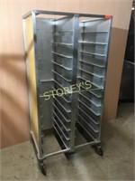 12 Shelf Mobile Pan Rack