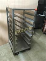 8 Shelf S/S Mobile Pan Rack