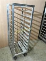 11 Shelf Mobile Pan Rack